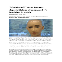 Machine of Human Dreams (Documentary Review)