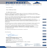 Portwest Ltd Reference Letter