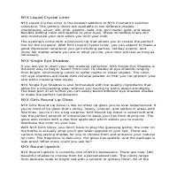English Writing Sample - NYX Product Descriptions
