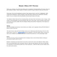 Car reviews - Mazda 3