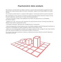 Pschometric Data Analysis