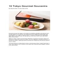 10 Tokyo Gourmet Souvenirs (Travel Article)