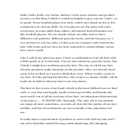 Article Writing Sample 2