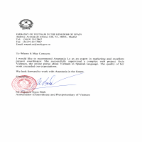 Recommendation Letter Embassy