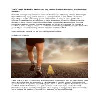 Running outdoor health & wellness