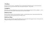 Category descriptions for e-commerce site