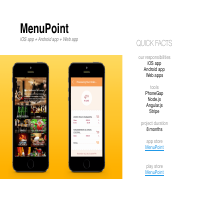 MenuPoint (iOS, Android, Web apps)