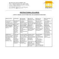 Instructional Syllabus