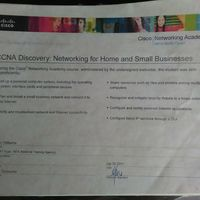 Cisco CCNA Discovery Networking certificate