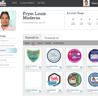 My Credly badges so far taking VA course online
