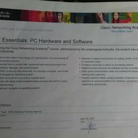 Cisco I.T. Essentials Level 2 certificate