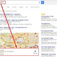 Local SEO Service Result for Paris Taxi Service