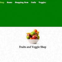 Fruits and Veggies Landing Page Design