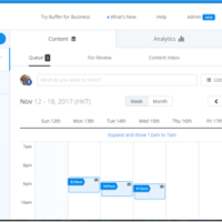 Buffer on scheduling posts Social Media