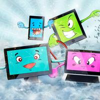 Cloud Computing Digital Illustration