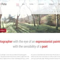 WordPress based photographer site