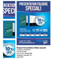 Prestoprint Canada promotional flyer