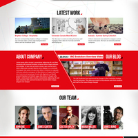 Red + Riplay Web Layout