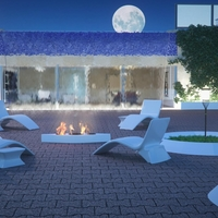 Architectural previz of a chill out terrace