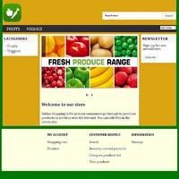 Fruits and Veg Shopping Cart