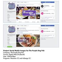 The Purple Dog Pub Social Media posts