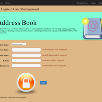 Address Book Website Login to User Management