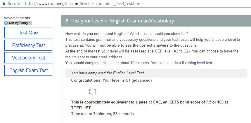 Franchiedee Roldan | Freelancer English Grammar/Vocabulary Test