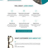 E-commerce Page for Glasses