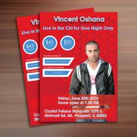 Flyer design for Vincent Oshana.
