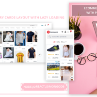 ECOMMERCE WEBSITE WITH PINTEREST UI