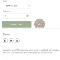 Custom shopify product page with size chart