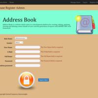Address Book Website Register Admin