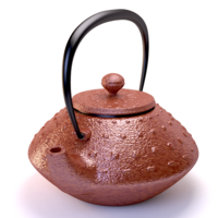 Photorealistic rendering of an indian teapot