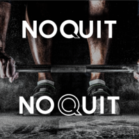 NoQuit - Gym equipement Logo Design