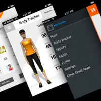 Pedometer, fitness app