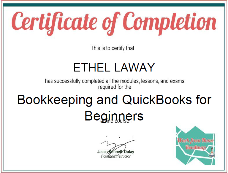 Ethel Laway   Freelancer Bookkeeping A Quick Books Certificate